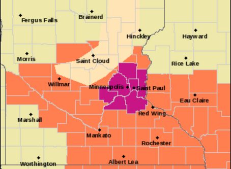 NWS Issues Heat Advisory for Chisago and Isanti Counties