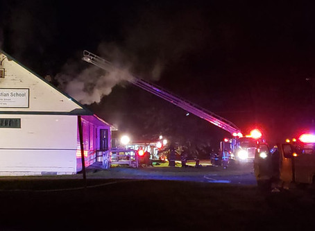 Fire Damages Harvest Christian School in Sandstone