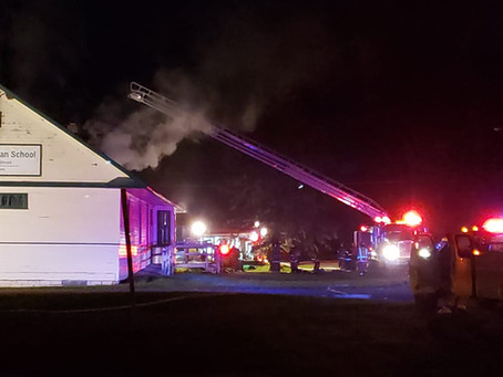 Fire Damages Harvest Christian School in Sandstone