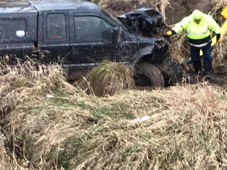 Truck Totaled Following Vehicle Chase in Pine County