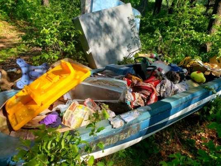Chisago Co. Investigates Trash Dumped near Stacy