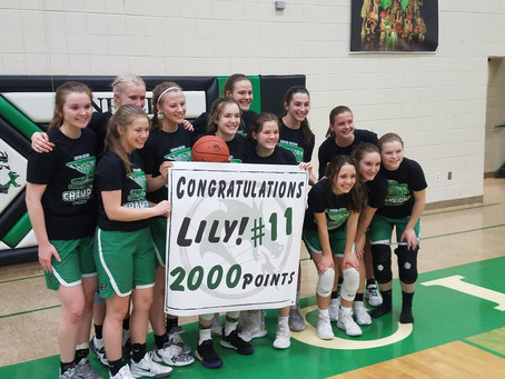 Lily Wilson Scores Her 2,000 Career Point in Playoff Victory
