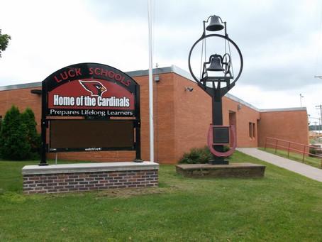 Luck School District Raises Money for Eugene Wynn Memorial Dock