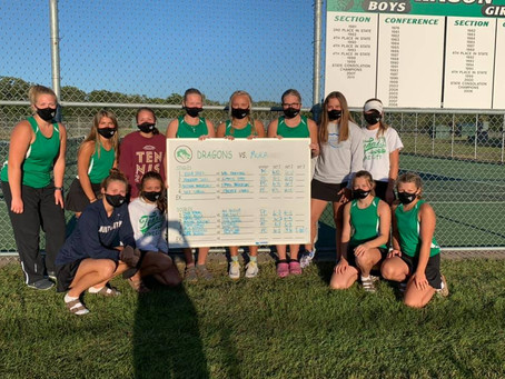 Dragon Tennis Remains Undefeated with Win Over Mora