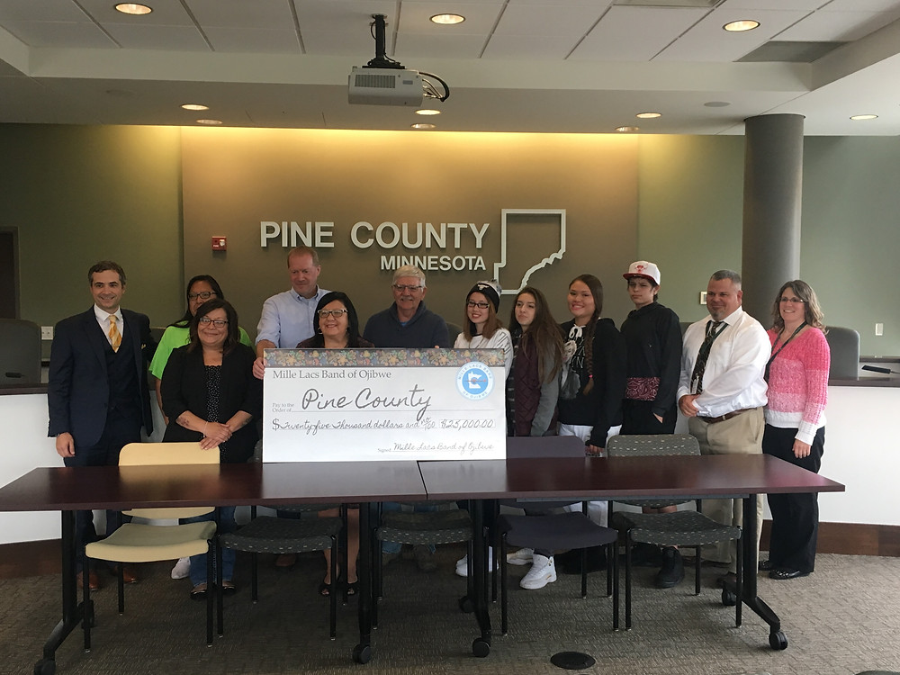 The Mille Lacs Band of Ojibwe and Pine County each put $25,000 towards the position.