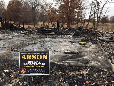 Isanti Co. Sheriff Investigates Arson near Cambridge