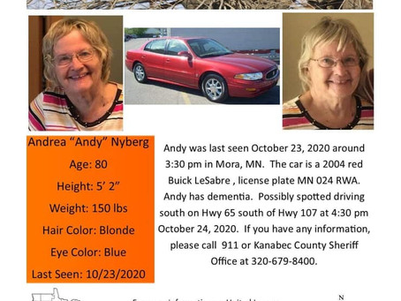 Community Looking for Help Finding Mora Woman Missing since Friday