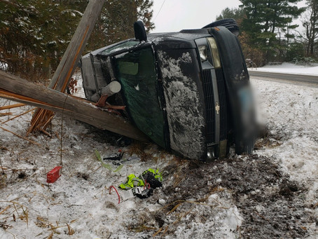 Rollover Crash Leads to Power Outage in Chisago Co.