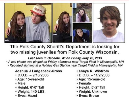 Two Teens Still Missing from Polk County, Wis.
