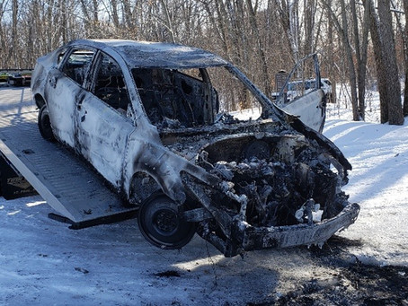 Burned Out Car Discovered in Chisago Co.