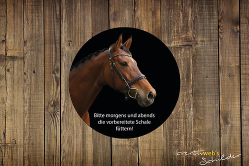 Individuelle Sticker fürs Pferd - rundes Set
