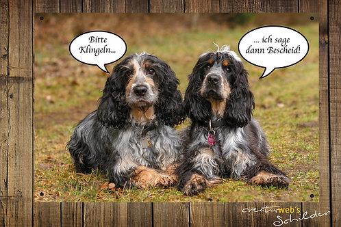 "Hundeschild ""bitte klingeln"""