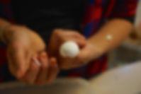 First layer removed form the white mushroom caps, White Mushroom Arugula Salad Recipe
