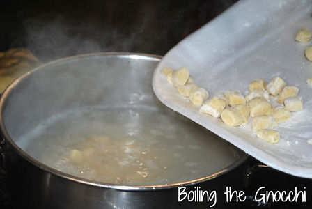 Boiling the Gnocchi - Mamma Angela's Homemade Gnocchi Recipe
