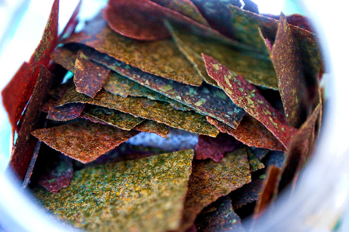 Colordful Dehydrated Vegetable Chips made by Biolicious Chips, Souk El Tayeb, Beirut, Lebanon