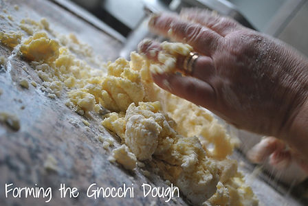 Kneading Gnocchi Dough - Mamma Angela's Homemade Gnocchi Recipe