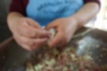 Stuffing the Intestine, Fwereh Lebanese Sausage Recipe