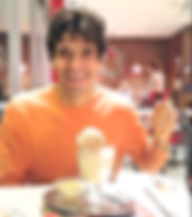 Anthony from The Recipe Hunters at an ice cream parlour