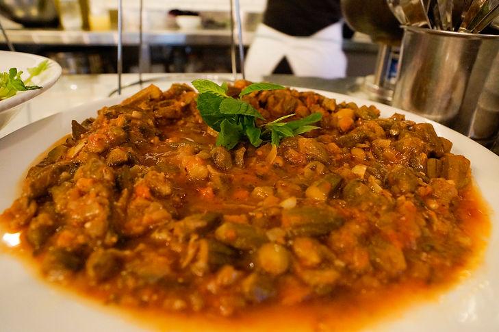 Okra Recipe, Tawlet, Beirut, Lebanon