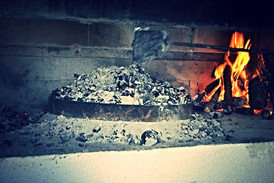 Covering the Peka with Embers and moving fire to the side, Peka Recipe, Croatian Traditional Recipes