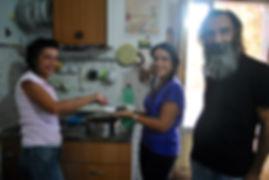 Luigi, Manu, and Dita in their family home, Caulonia, Italy
