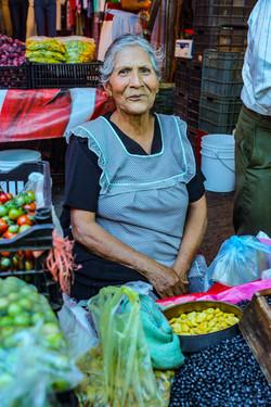 woman at farmers market