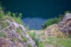 Anthony's Rock Hitting the Water, Red Lake, Imotski, Croatia