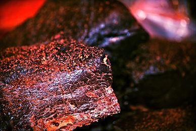 carne di balena venduta al mercato del pesce a Bergen, Norvegia
