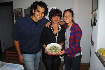Tania, Leila, Anthony and Tania's Wild Artichoke Penne Recipe