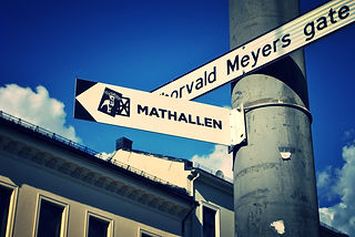 Mathallen Hall Sign