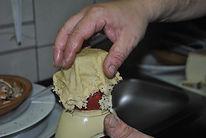 Creating Parmesan Cheese Bowl, Ante's White Scampi Risotto Recipe, Konoba Lukin, Brač, Croatia