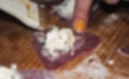 Securing Ravioli with Egg; Irina's Istrian Ravioli Ricotta Recipe in Pazin, Croatia