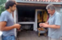 Ante Explaining Peka to Anthony, Imotski, Croatia