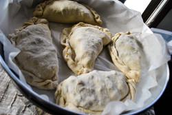 borek in pan before baking