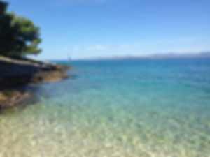Beach on the Island of Brač, Croatia