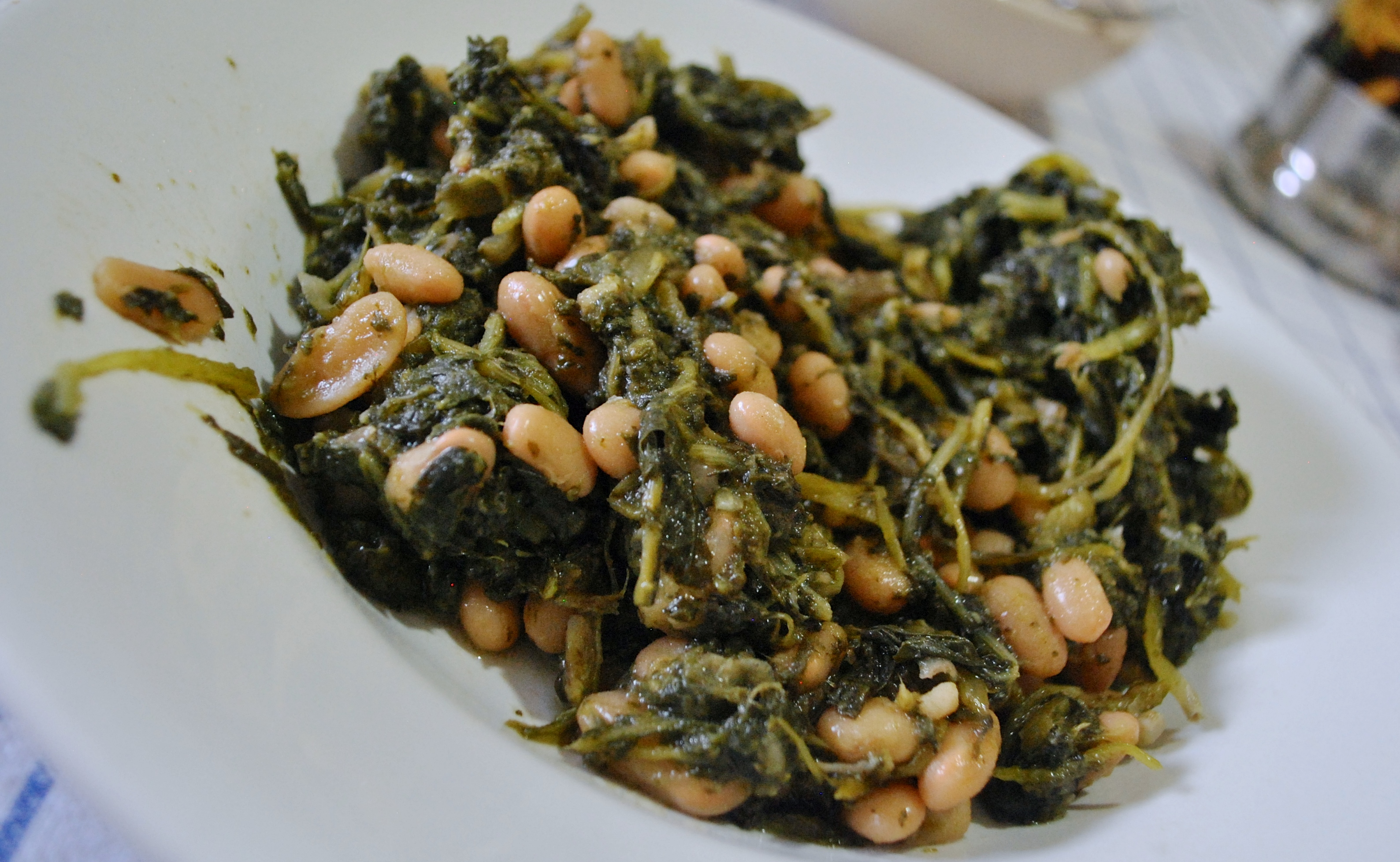 Wild Chicory and Cannellini Beans