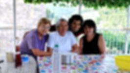 Anthony with Women from Dol, Brač, Croatia