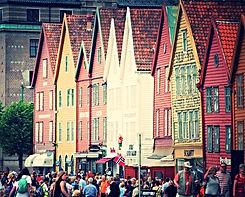 Le colorate case di legno della vecchia Bergen, Norvegia