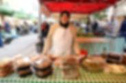 Imane at Souk El Tayeb selling traditional syrian homemade food in Beirut, Lebanon