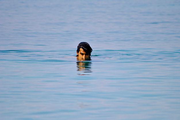 Anthony Swimming at a Beach outside of Postira, Brač, Croatia