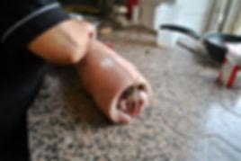 Tying the Pancetta - Porchetta Ripiena aka Stuffed Pork Recipe