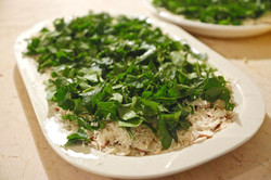 White Mushroom Arugula Salad
