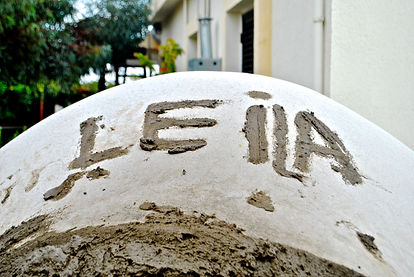 """The name """"Leila"""" in Mud"""
