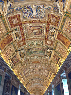 Walking through the Vatican Museum, Italy