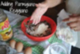 Adding Parmigiano Reggiano - Marietta's Calabrese Braciole di Melanzane Recipe Photos