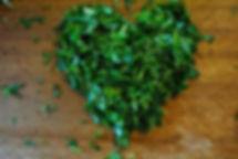 cilantro heart, Lebanese swiss chard recipe