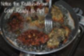 Flipping the Eggplant Fritters - Marietta's Calabrese Braciole di Melanzane Recipe