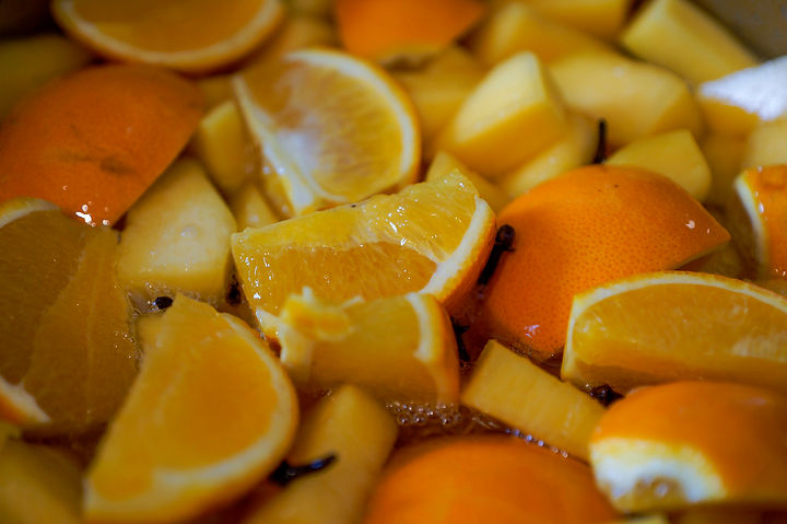 orange, pumpkin and cloves boiling, carmelized pumpkin recipe, Lebanon