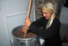 Mariam Stirring Molasses Syrup, Mariam the Herbalist in Cyprus