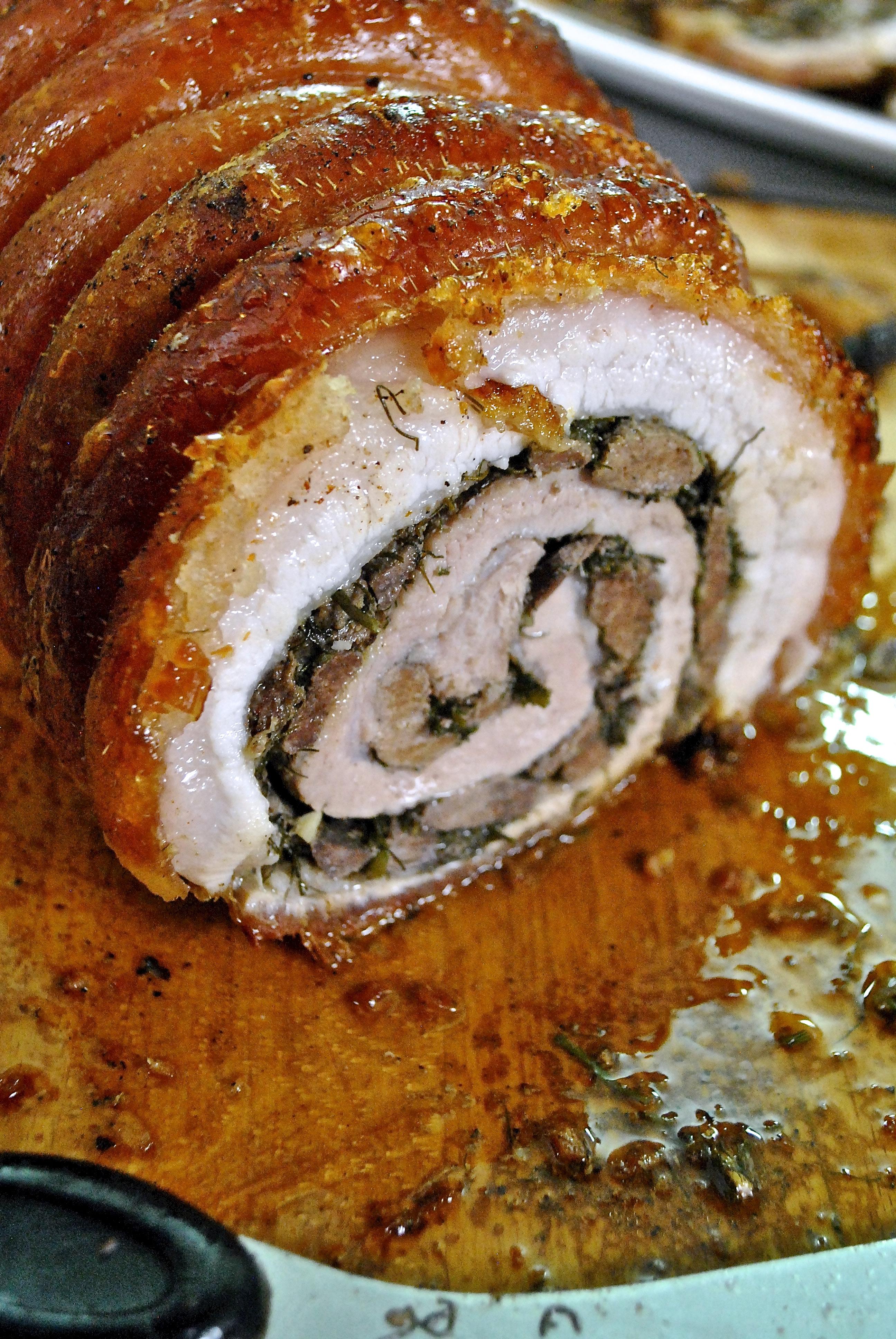 Porchetta Ripiena aka Stuffed Pork